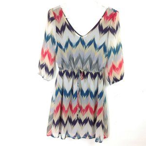 Be Bop Colorful Chevron Juniors Size Small Dress